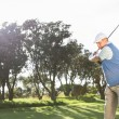 Golfer swinging on the grass — Stock Photo #48329371