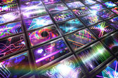 Screen collage showing disco images — Stock Photo