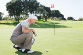 Jogador de golfe no putting green — Foto Stock