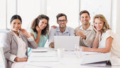 Casual business team during meeting — Stock Photo