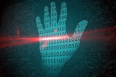 Digital security hand print scan — Stock Photo