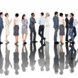 Business people standing in a line — Stock Photo #48332169