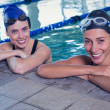 Постер, плакат: Swimmers in the swimming pool
