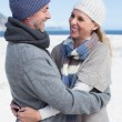 Couple hugging on the beach — Stock Photo #48336643