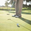 Golfer putting ball on green — Stock Photo #48336843