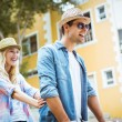 Hip couple spending time together — Stock Photo