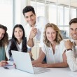 Business team using laptop — Stock Photo #48338773