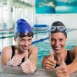 Swimmers in the swimming pool — Stock Photo #48339815