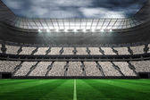 Football stadium with fans in white — Stock Photo