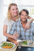 Couple enjoying meal together — Stock Photo