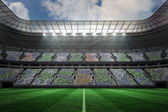 Football stadium with lights — Foto de Stock