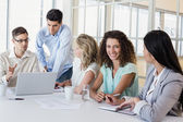 Businesswoman during meeting — Stock Photo