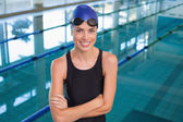 Swimmer by the pool — Stock Photo