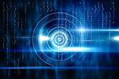 Projeto de tecnologia azul com círculo — Fotografia Stock