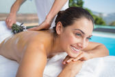 Brunette getting an aromatherapy treatment — Stock Photo