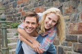 Hip young couple having fun — Stock Photo