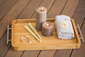 Tray of ear candling equipment — Stock Photo