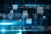 Technology design with binary code — Stockfoto