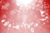 Red design with white snowflakes — Stock Photo