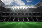 Large football stadium with empty stands — Stock Photo