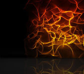 Orange fire design on black — Stock Photo