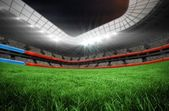 Football pitch in large stadium  — Stock Photo