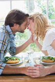 Couple having meal together — Stock Photo