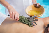Woman getting an aromatherapy treatment — Stock Photo
