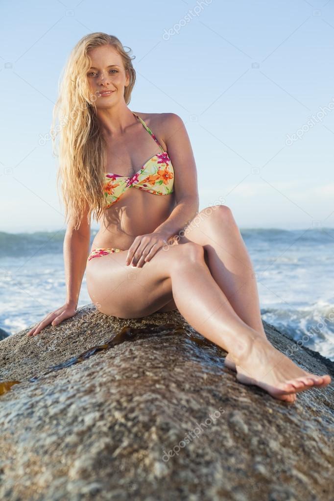 blonde beach bikini photos