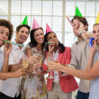 Business team celebrating with champagne — Stock Photo #48340871