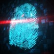 Digital security finger print scan — Stock Photo #48341155