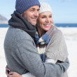 Couple hugging on the beach — Stock Photo #48341477