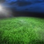Football pitch under night sky — Stock Photo #48342797