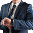 Businessman checking time — Stock Photo #48344319
