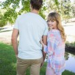 Couple walking in the park — Stock Photo #48346367