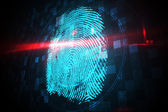Digital security finger print scan — Stock Photo