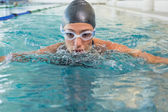 Swimmer coming up for air — Foto Stock