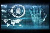 Digital security hand print scan — Stock Photo