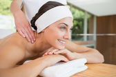 Woman getting a back massage — Foto Stock