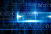 Technology design with binary code — Foto Stock
