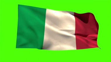Italy national flag blowing — Stock Video