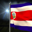 Costa rica national flag waving — Stock Video #48880521