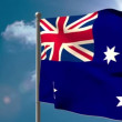 Australia national flag waving on flagpole — Stock Video #48881079