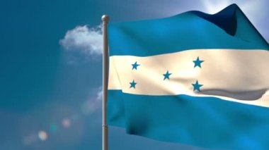 Honduras national flag waving — Stock Video