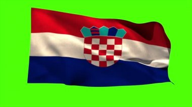 Croatia national flag blowing — Vídeo de stock