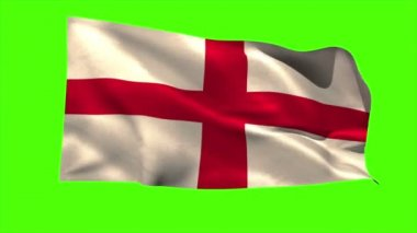 England national flag blowing — Stock Video
