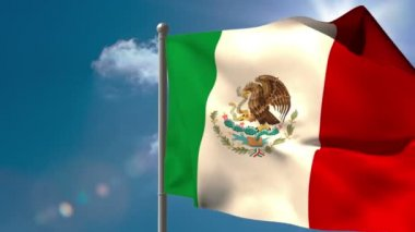 Mexico national flag waving — Stock Video