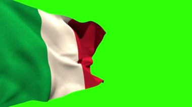 Large italy national flag blowing — Stock Video