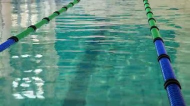 Swimming pool with lane markers — Stok video