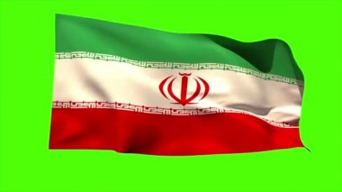 Iran national flag blowing — Stock Video